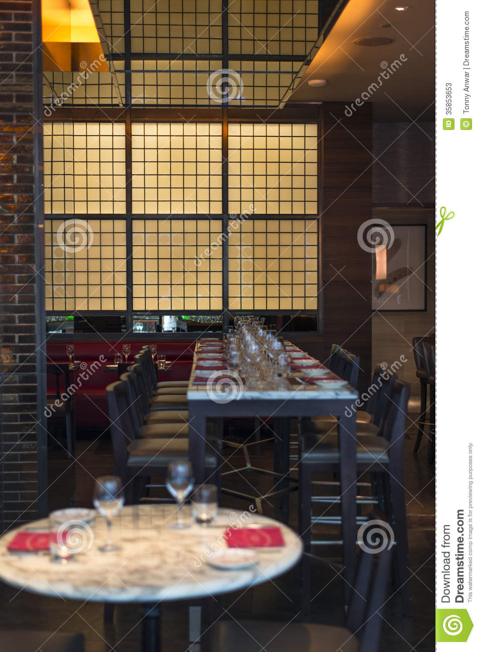 Restaurant setup stock photos image