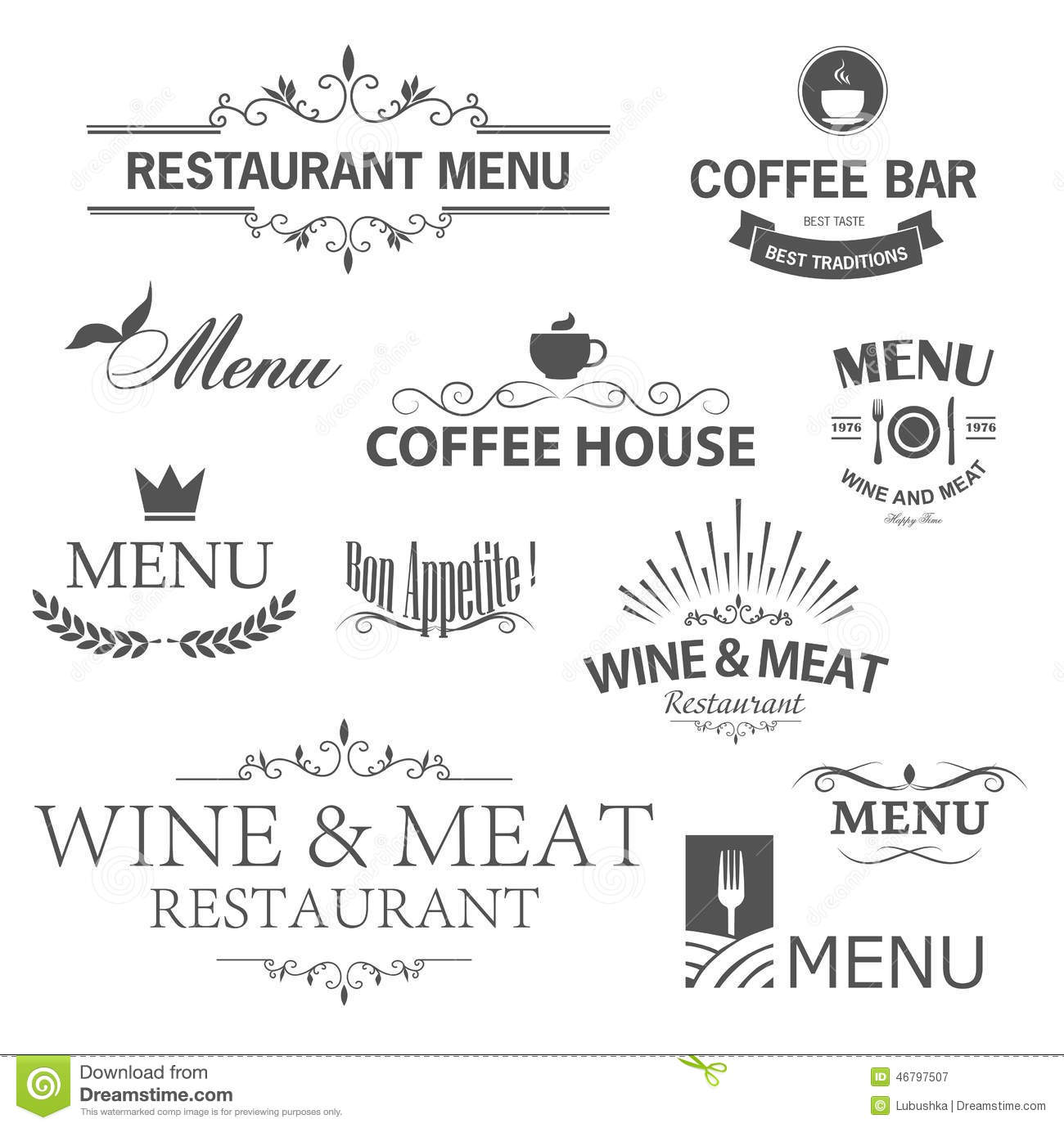 restaurant signs stock vector image of chef food menu