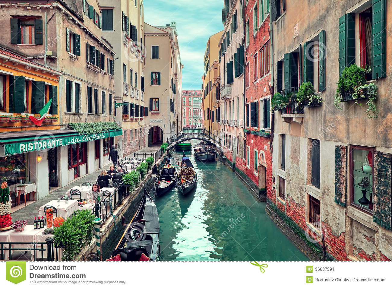 restaurant on small canal in venice  italy editorial ski clipart ski clipart images