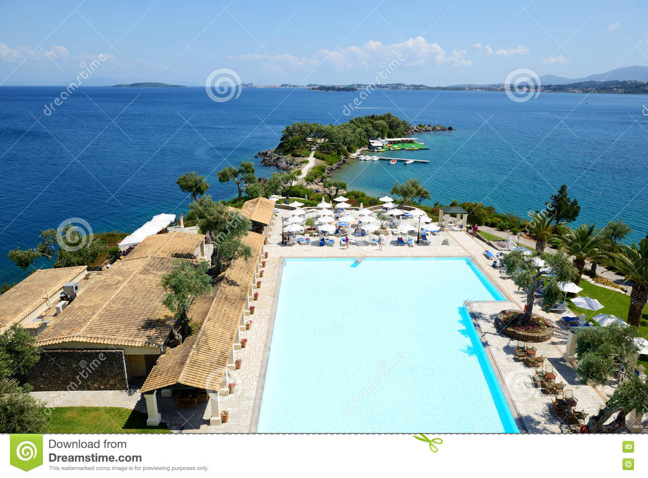 The Restaurant And Swimming Pool Near Beach At Luxury