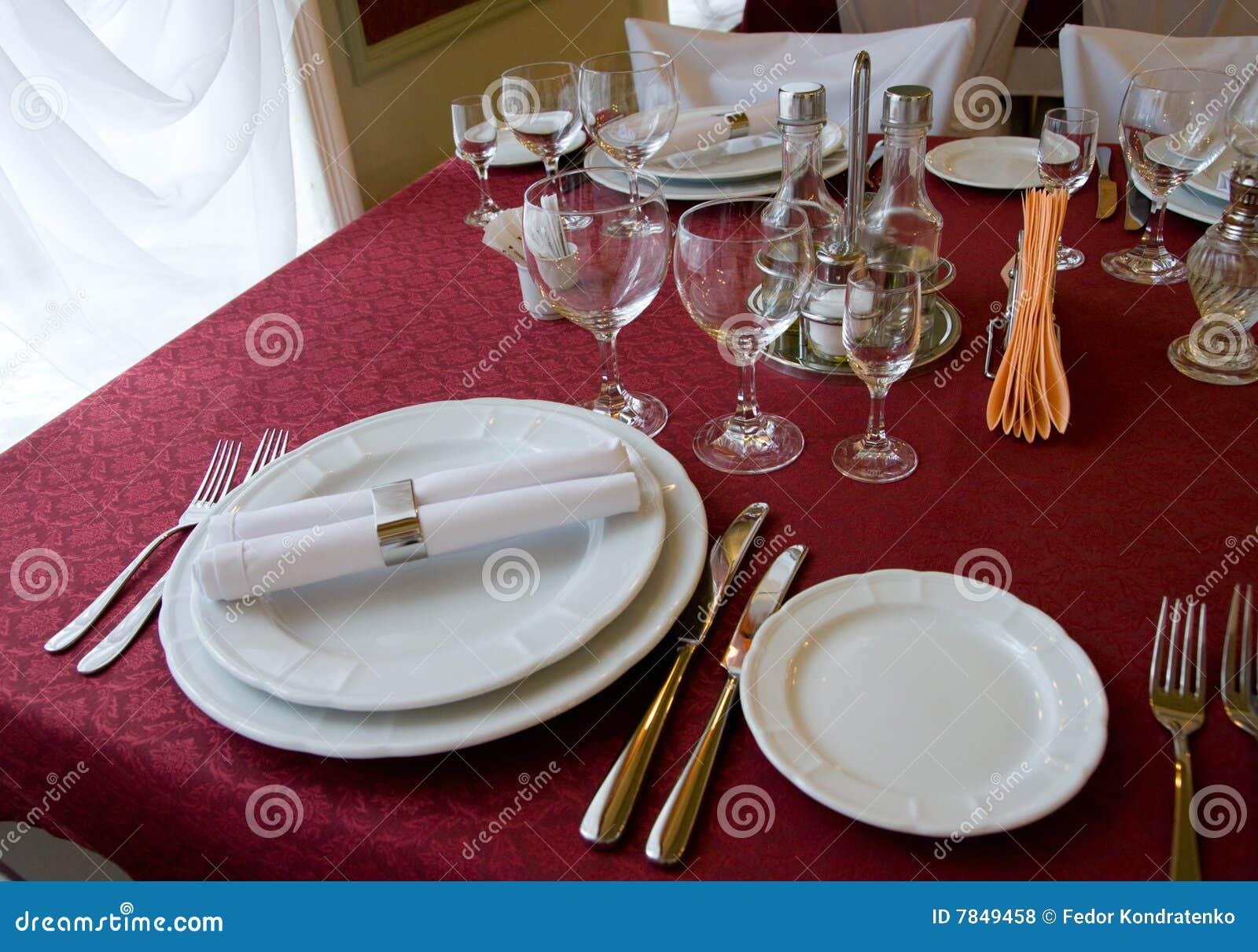 Restaurant Table Arrangement Royalty Free Stock Photos