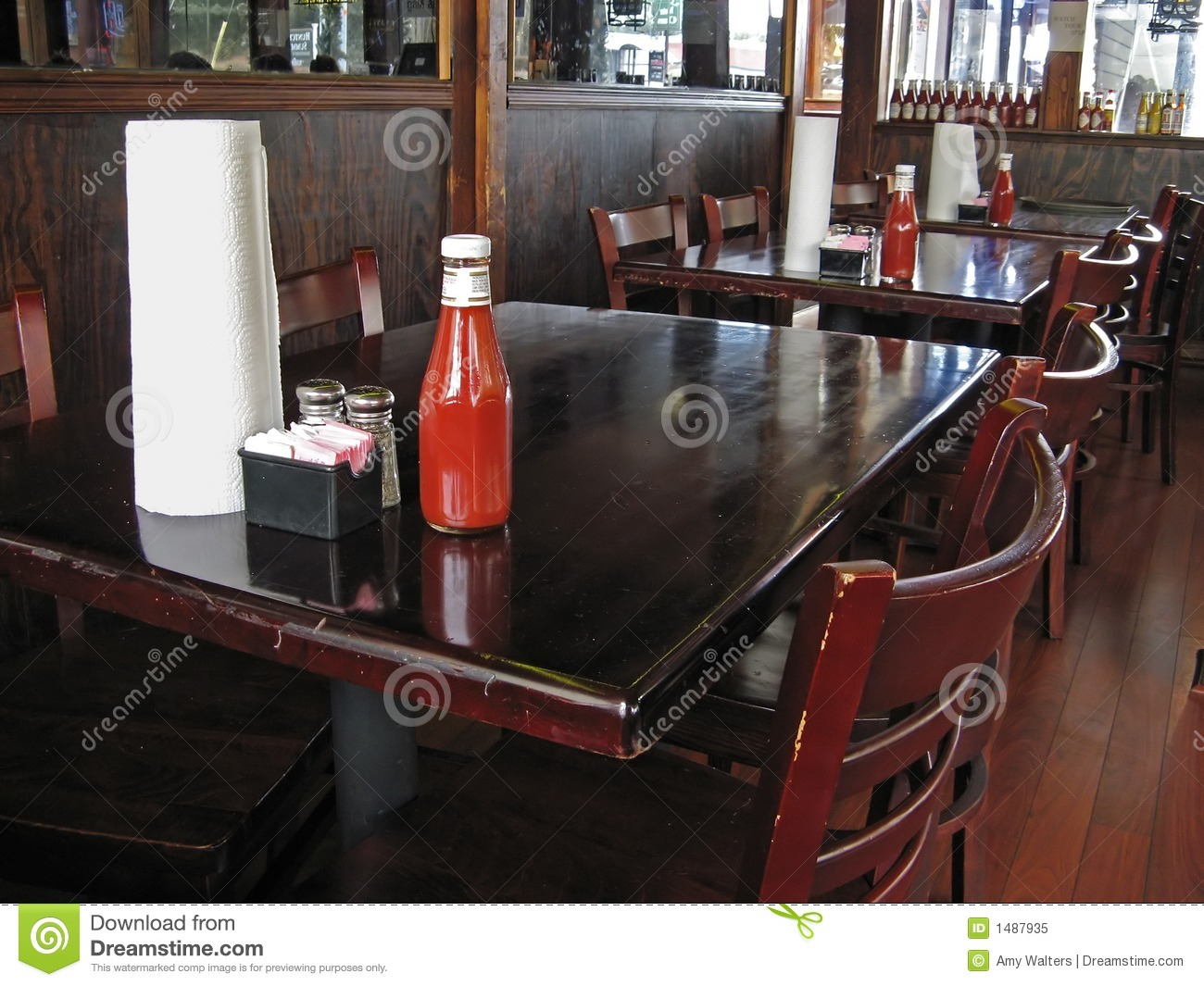 restaurant table and chairs stock image image of spoon chair 1487935