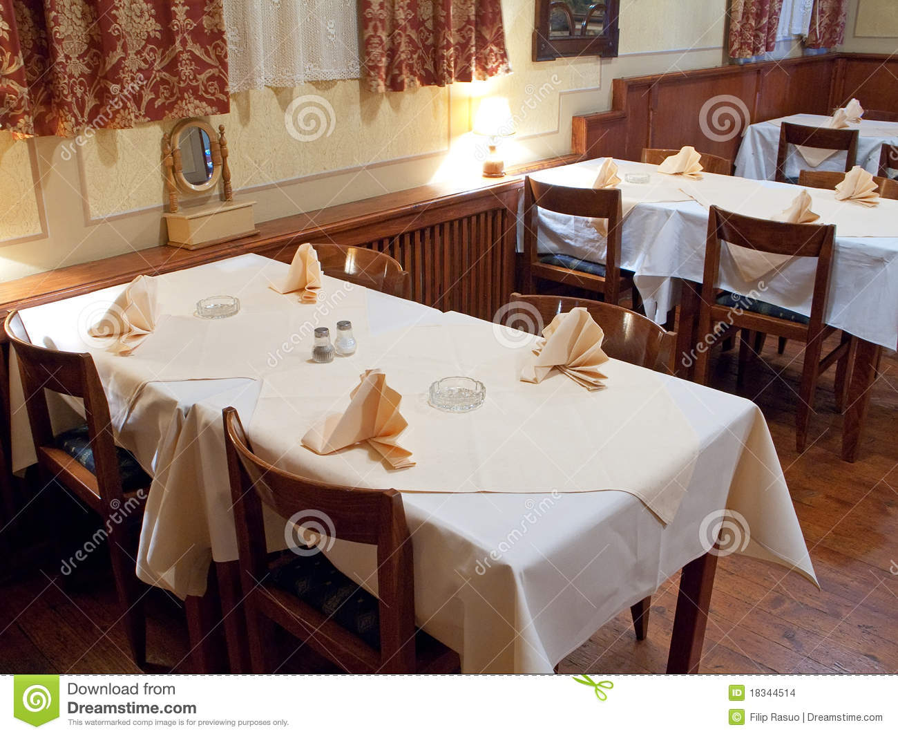 Restaurant tables stock images image 18344514 - Book a restaurant table online ...