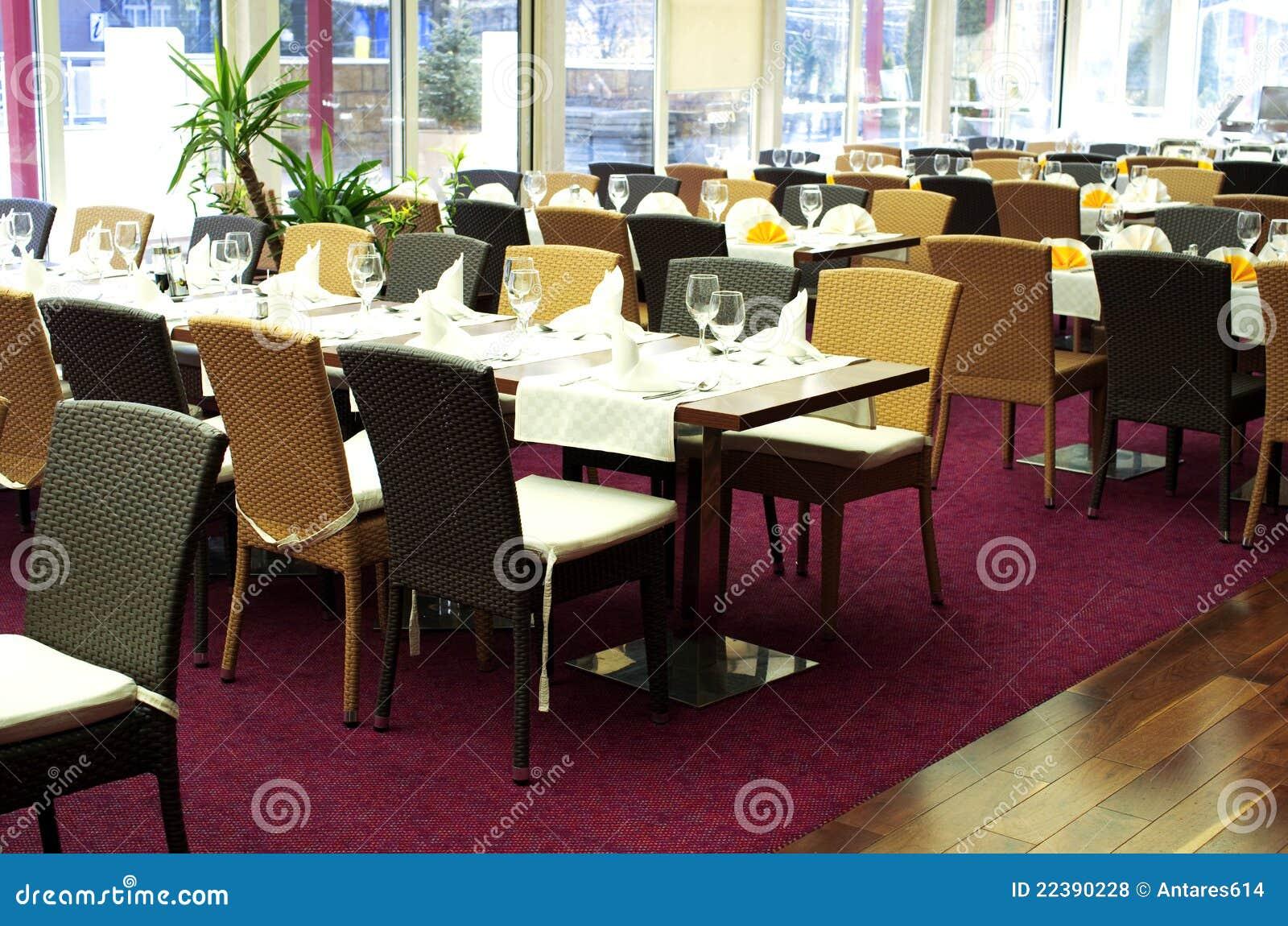 Restaurant tables - Restaurant Tables Royalty Free Stock Photos