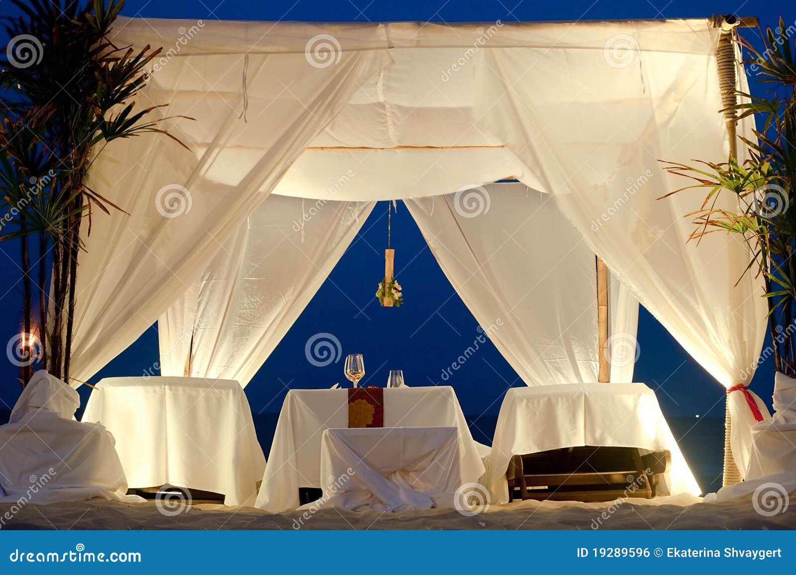 Restaurant Tent On Beach Stock Photo Image Of Restaurant