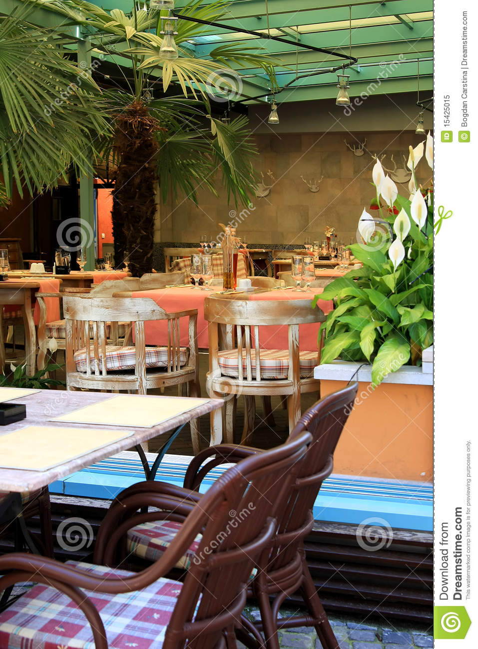 Restaurant and terrace royalty free stock photo image for Open terrace restaurants