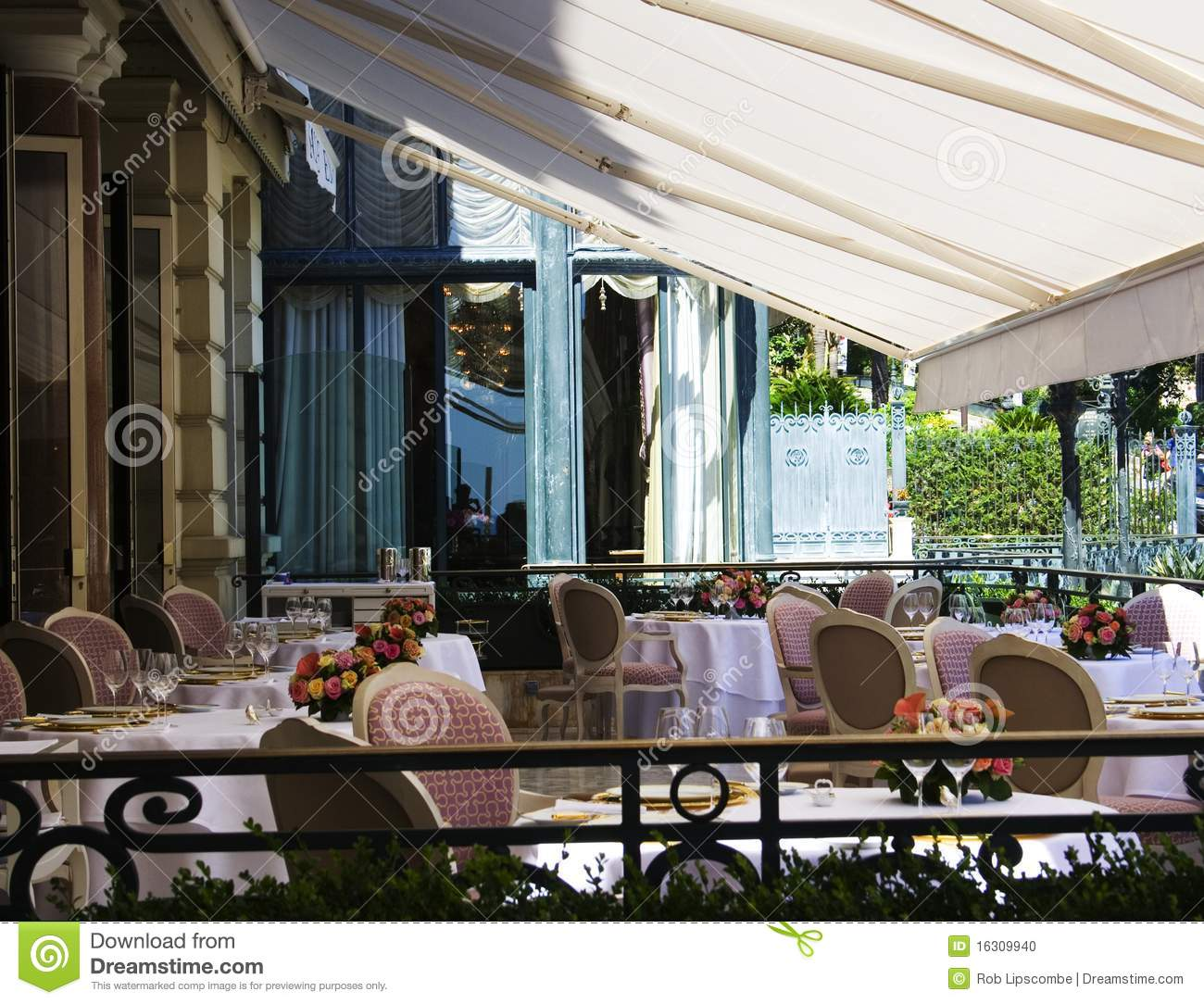 Restaurant terrace stock photo image 16309940 for Restaurant with terrace