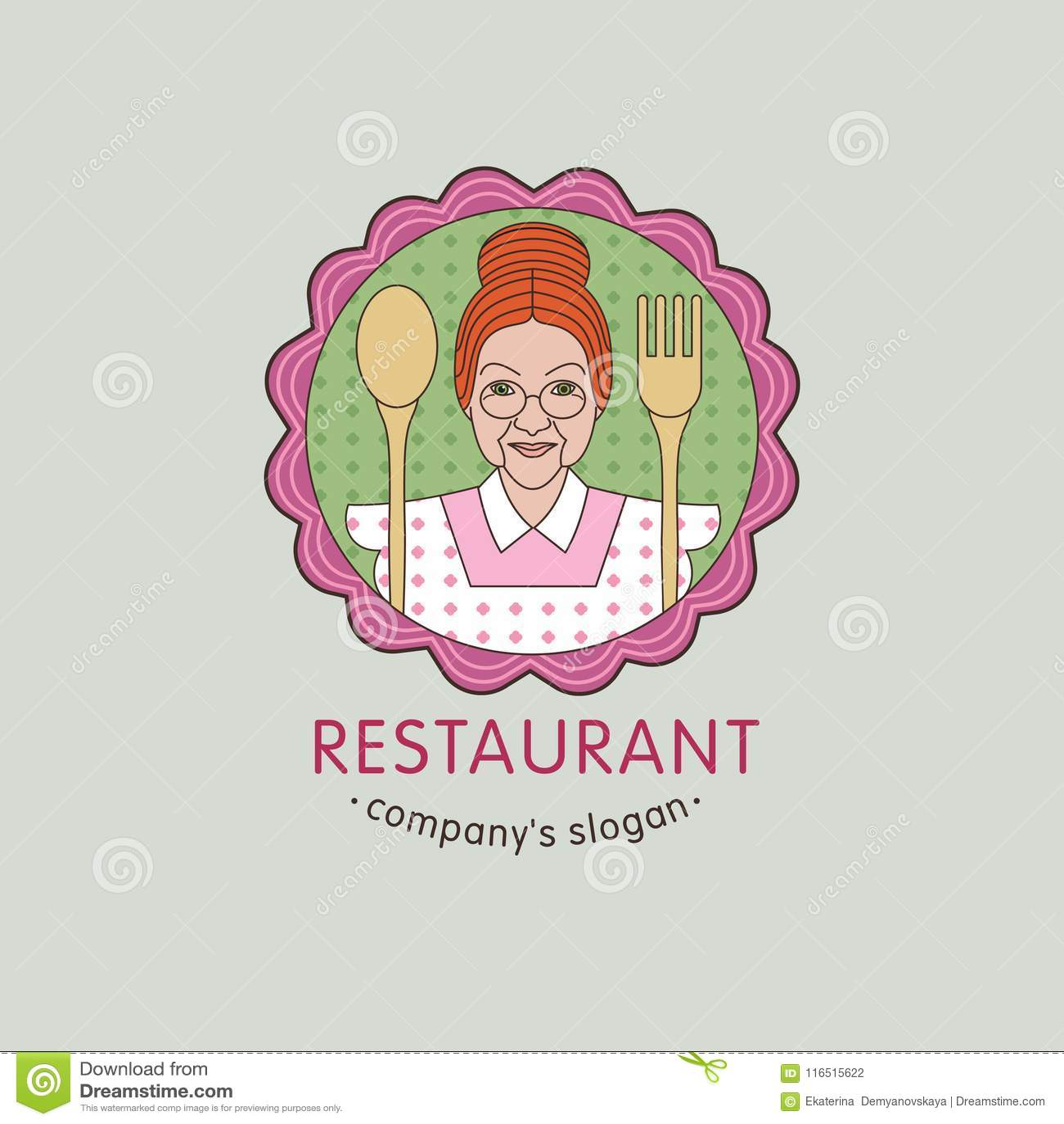 Vector Logo Restaurant Cafe Home Cooking 2