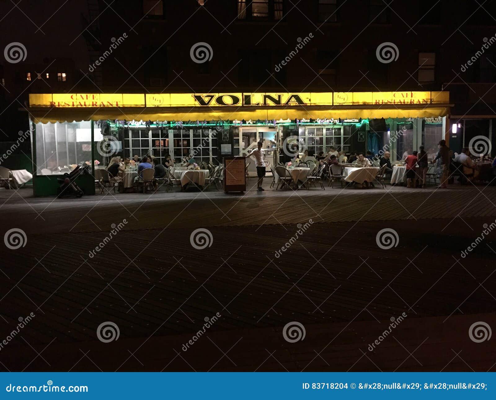 Restaurant Volna Editorial Stock Image