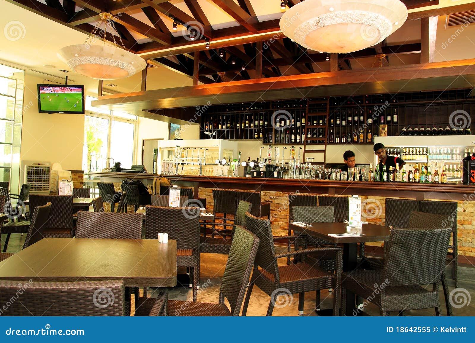Restaurante Barra Y Bistros Imagen Editorial Imagen