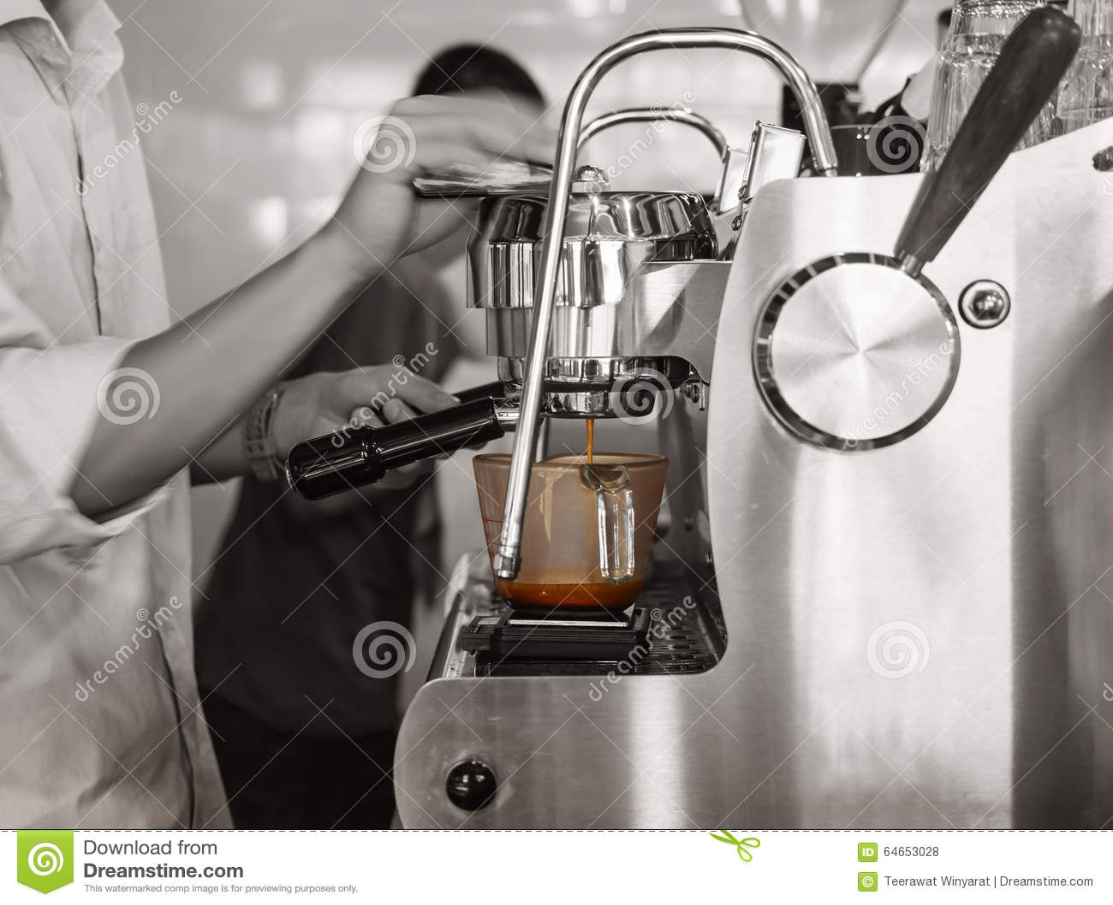 Restaurante da barra de tiro de Barista Brewing Coffee Espresso