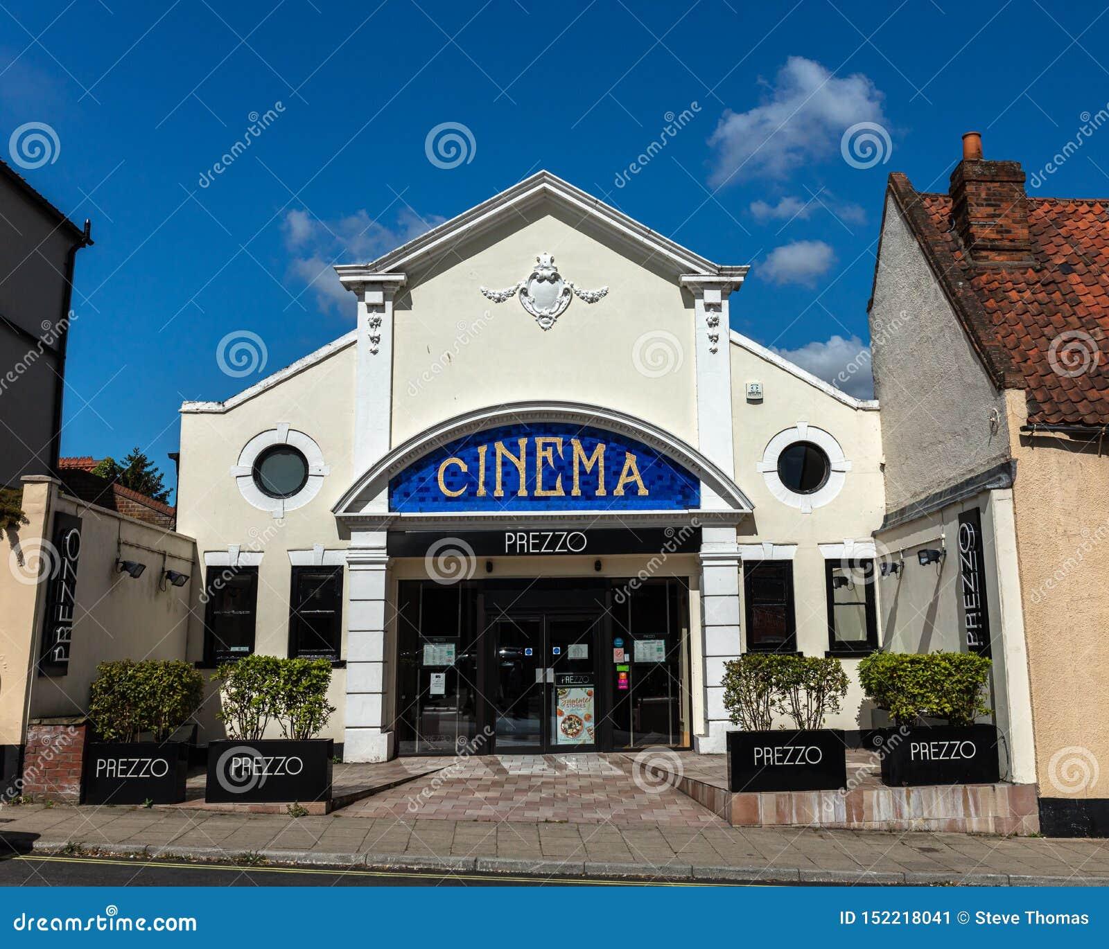 Restaurante de Prezzo na construção velha do cinema em Beccles