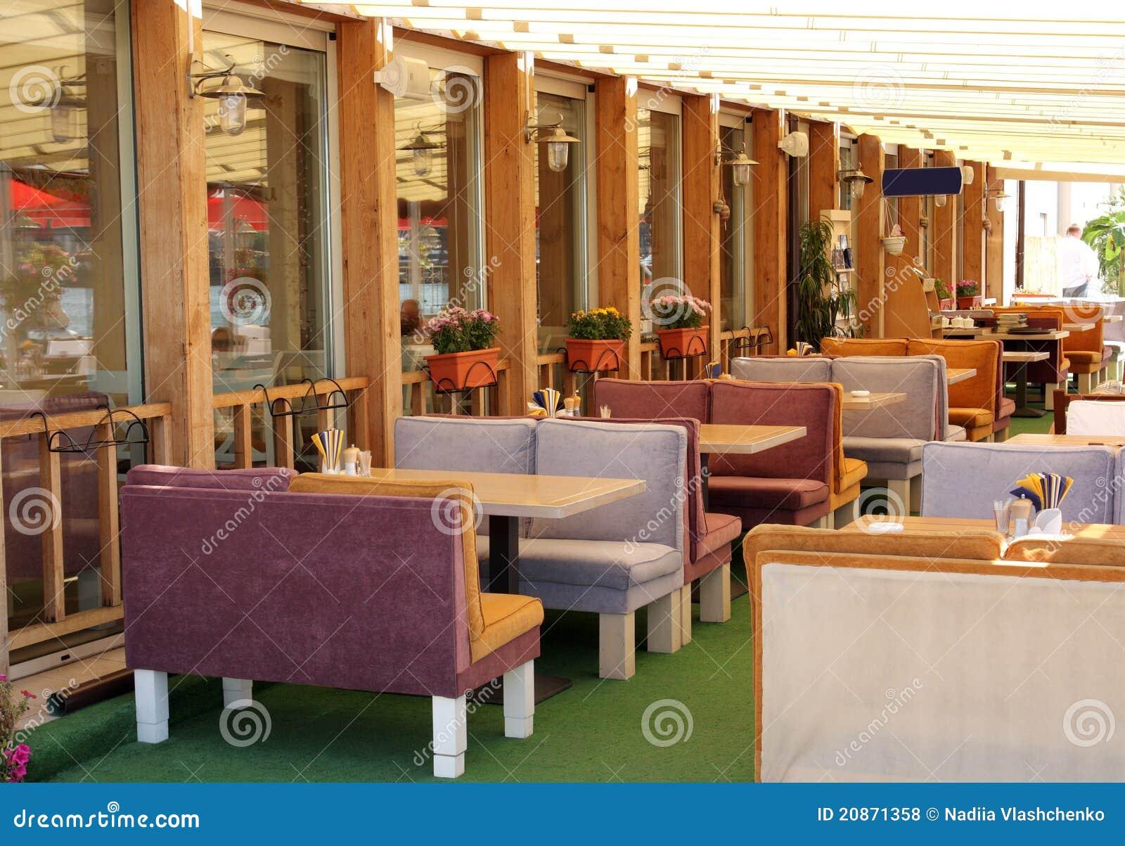 Restaurante do ar aberto
