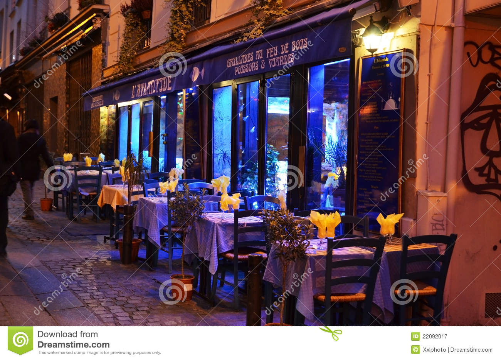 Restaurante en París por noche
