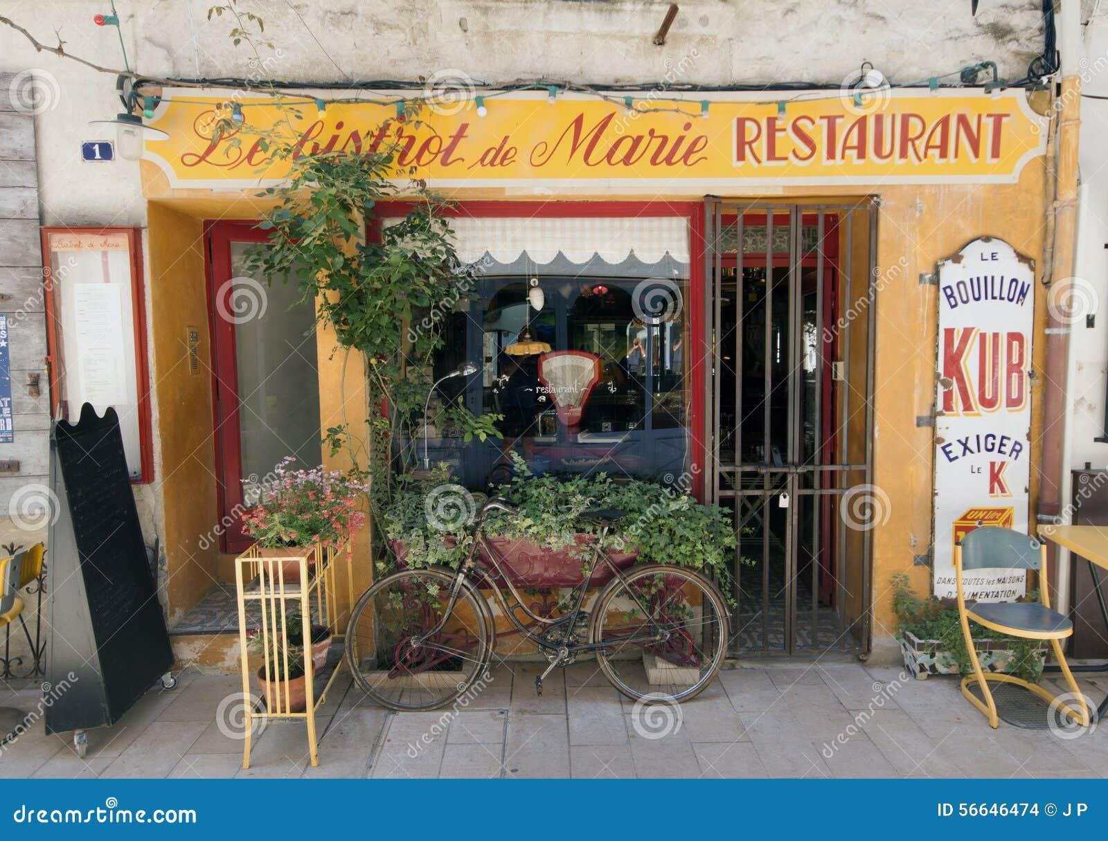 Restaurante franc s de los bistros en par s francia imagen for Restaurante frances