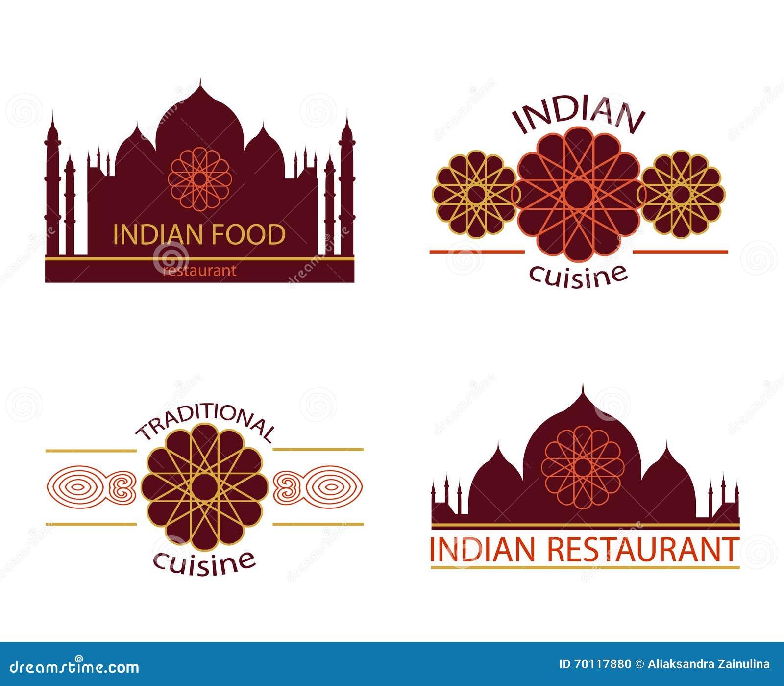 Restaurante Indio De La Comida Ilustración del Vector - Ilustración ...