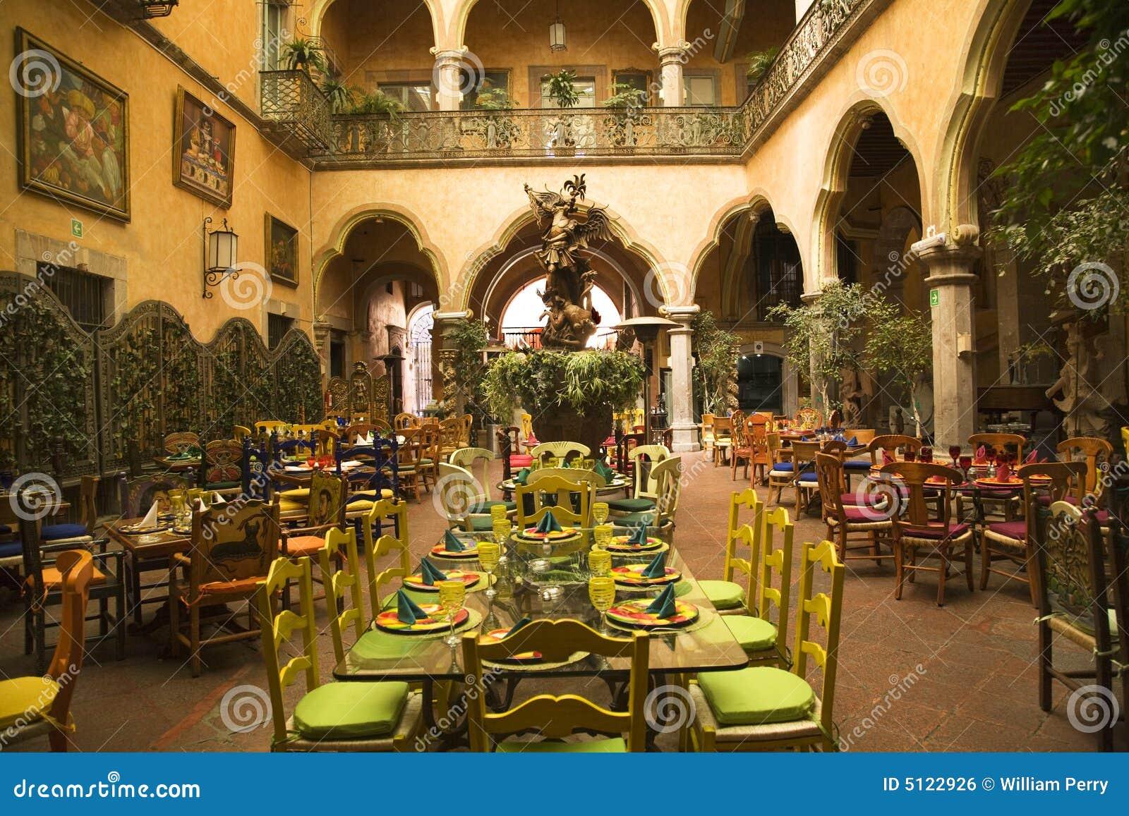 Restaurante Mexicano Queretaro México Del Patio Imagen de ...