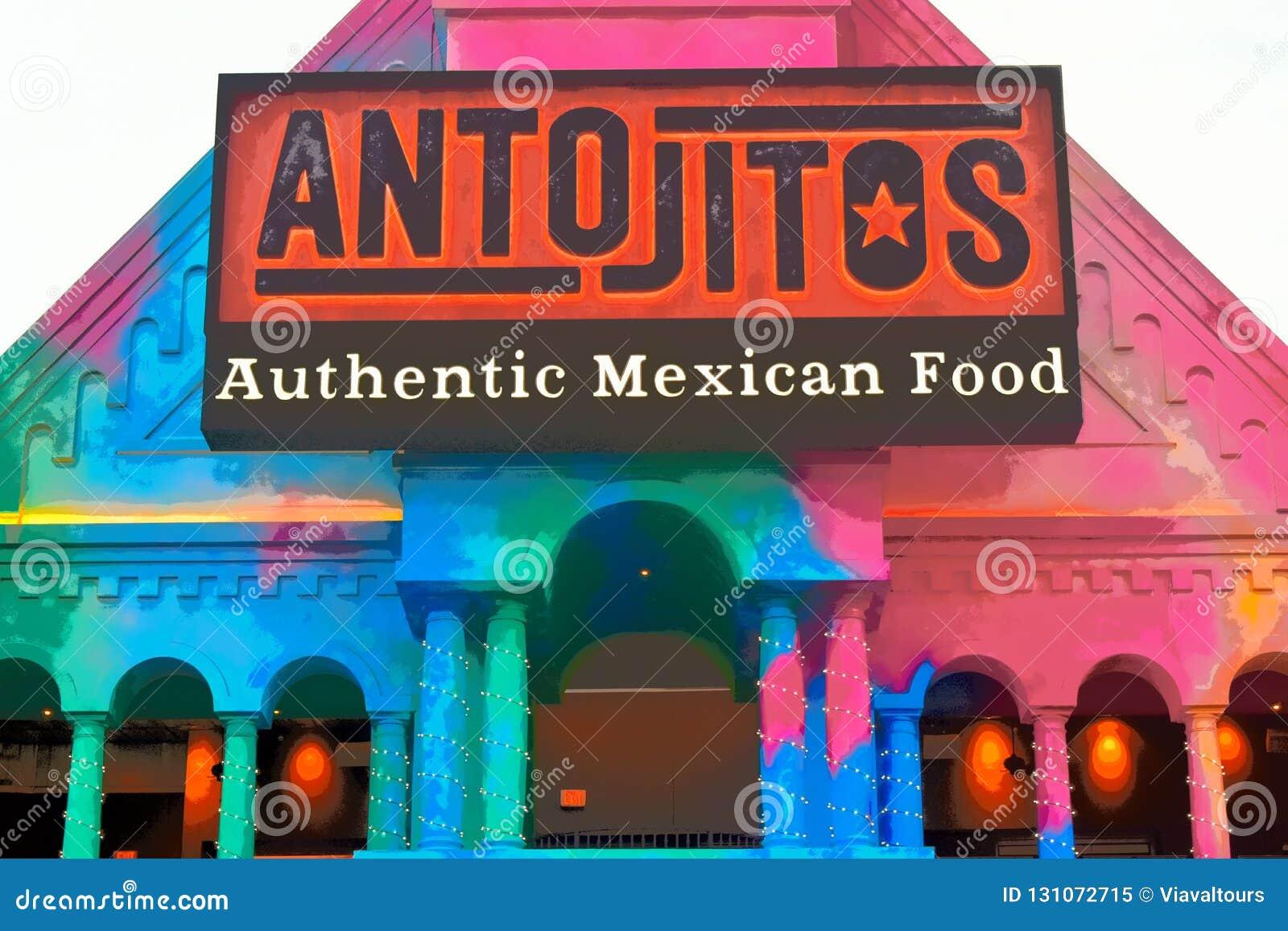 Restaurante mexicano tradicional del estilo en Citywalk Universal Studios