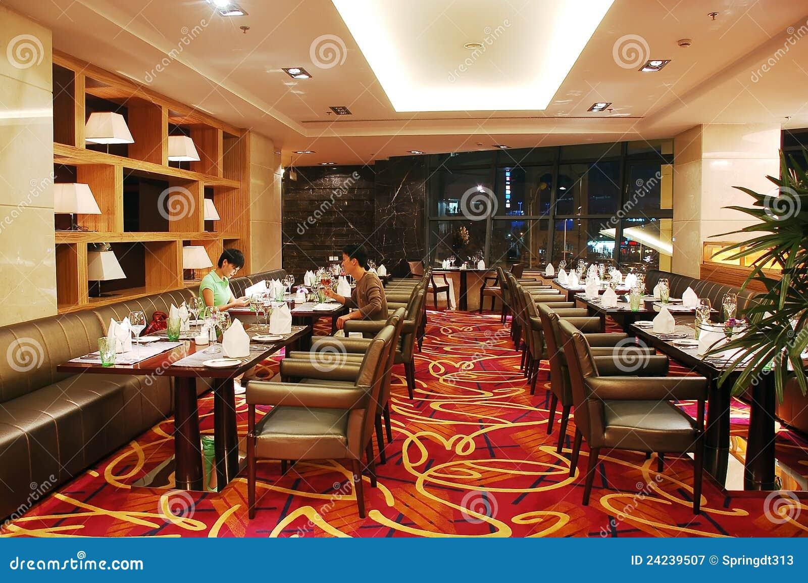 Restaurante Moderno Fotografia Editorial Imagem De Jantar
