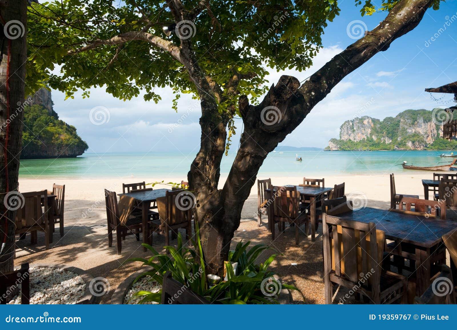 Restaurante Railay da praia do ar aberto