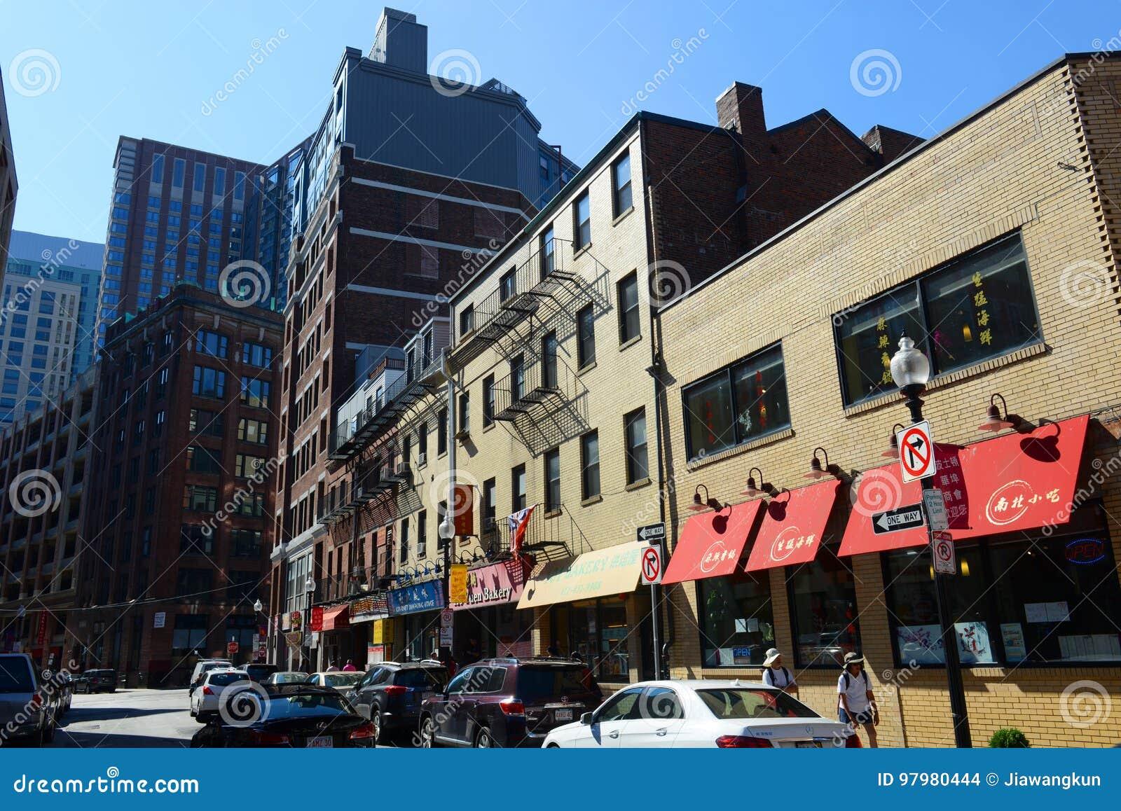 Boston Chinatown Massachusetts Usa Editorial Stock Image Image