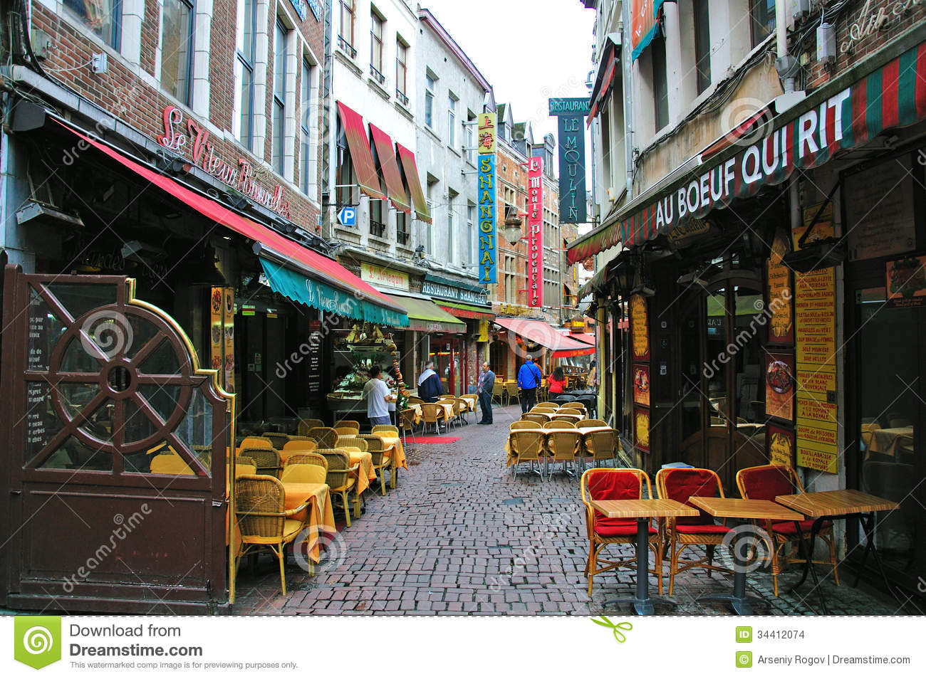 Restaurants Of Brussels Editorial Stock Image Image