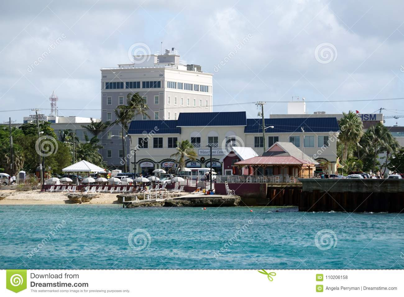 Restaurants And Businesses Along The Waterfront On Grand Cayman
