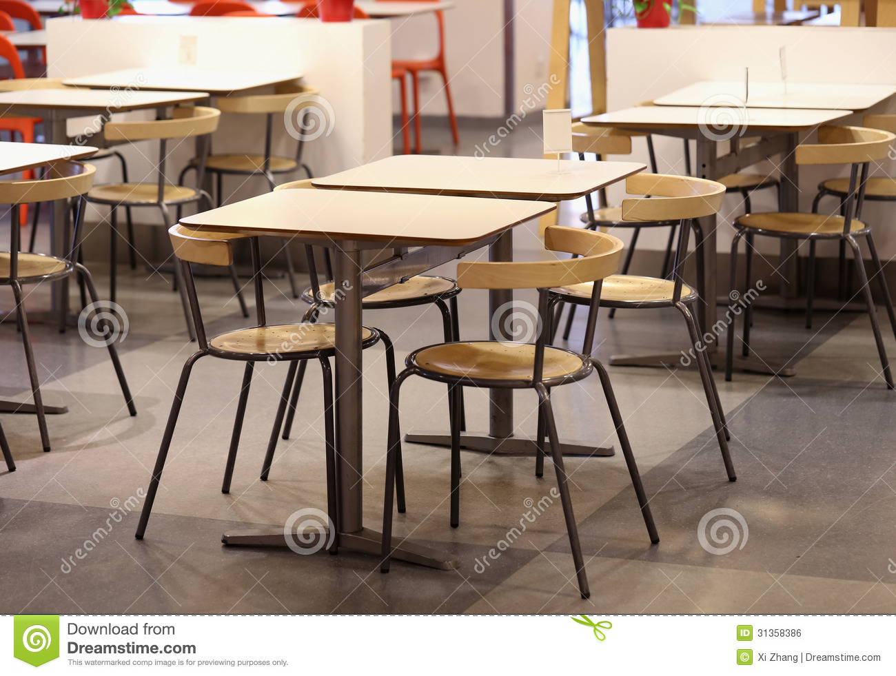 Restaurants Chair And Table Royalty Free Stock Image