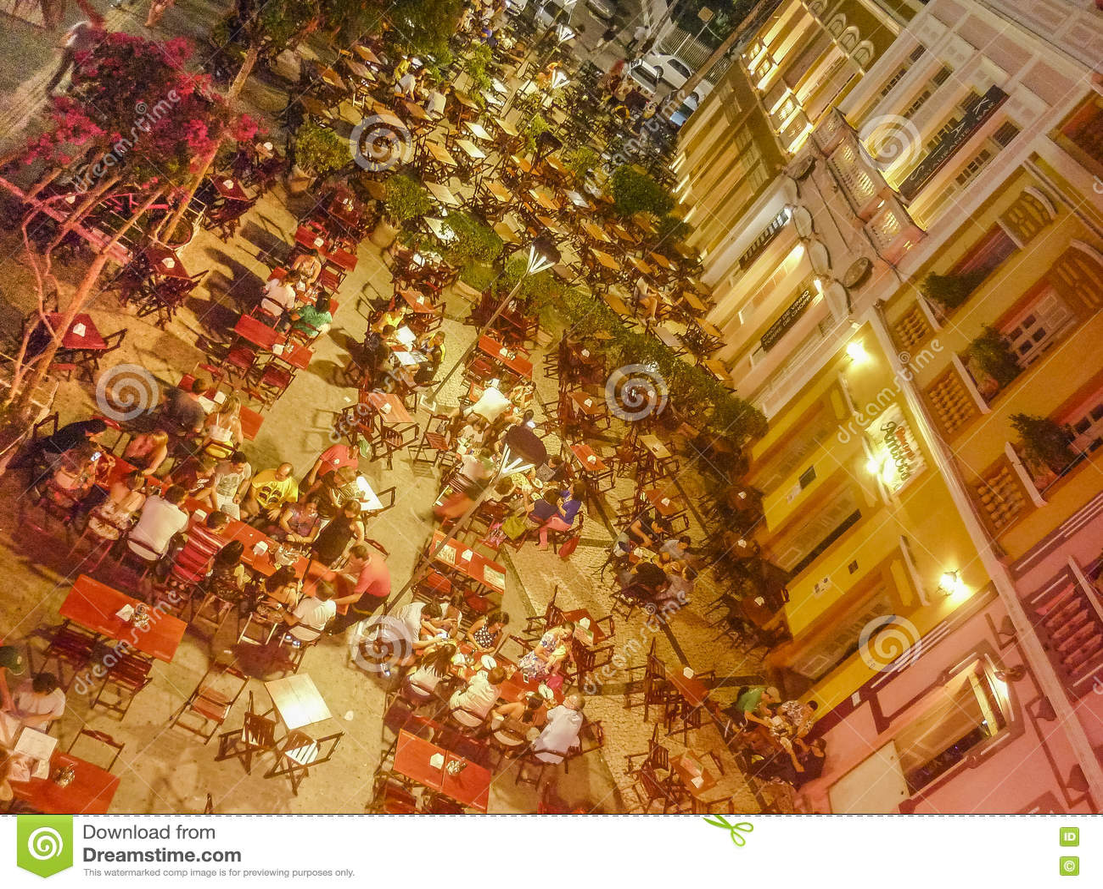 Restaurants in historischem Mittel-Fortaleza Brasilien