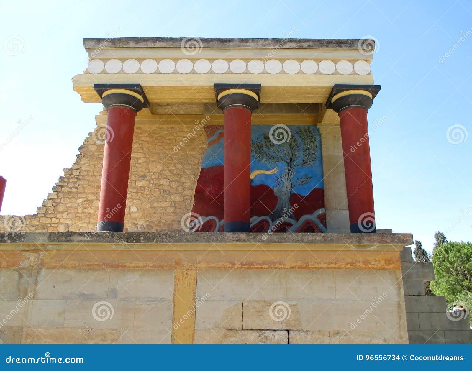 Restes de bureau de douane antique dans knossos site de patrimoine
