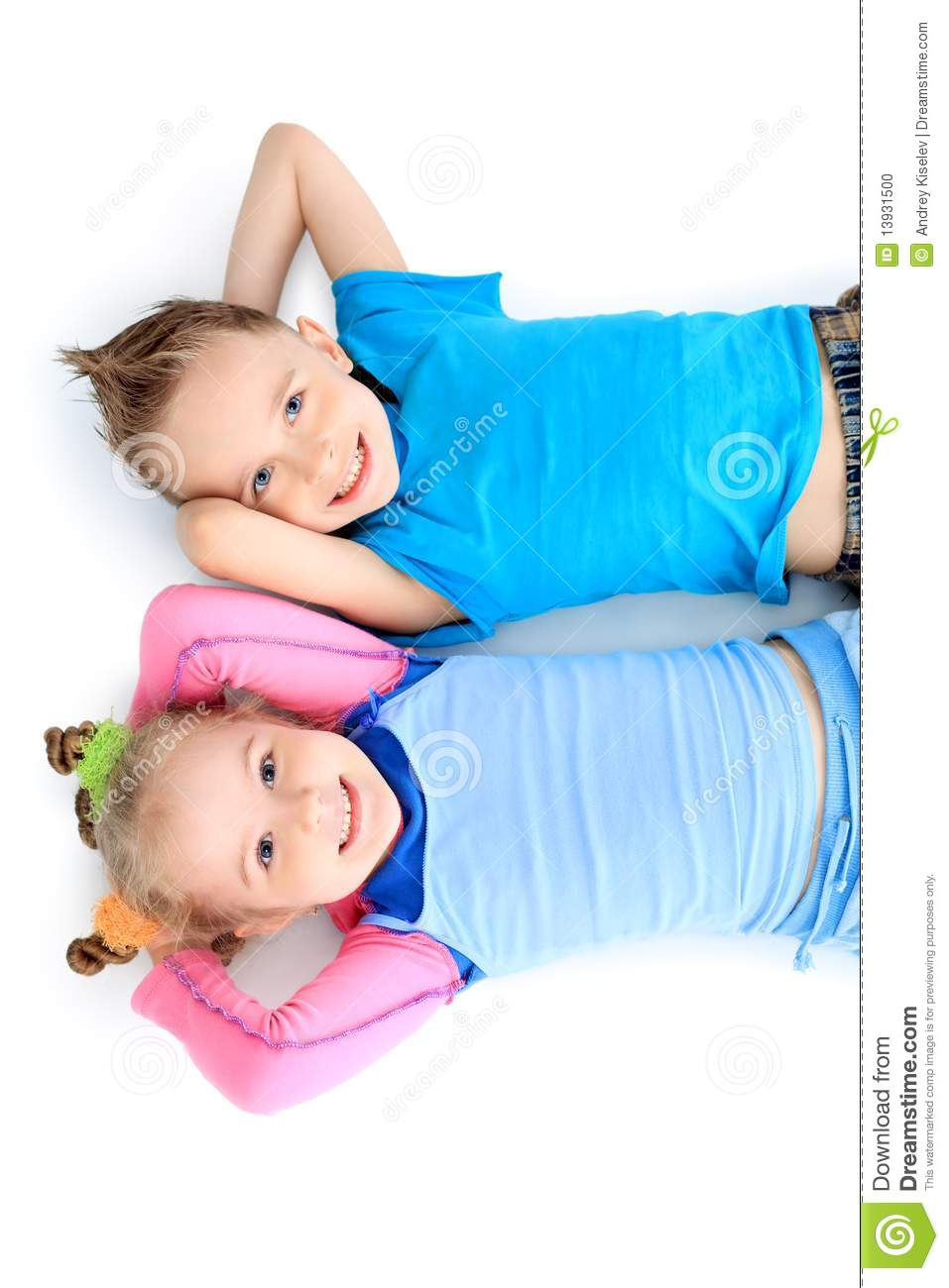 Resting Children Stock Photo Image 13931500