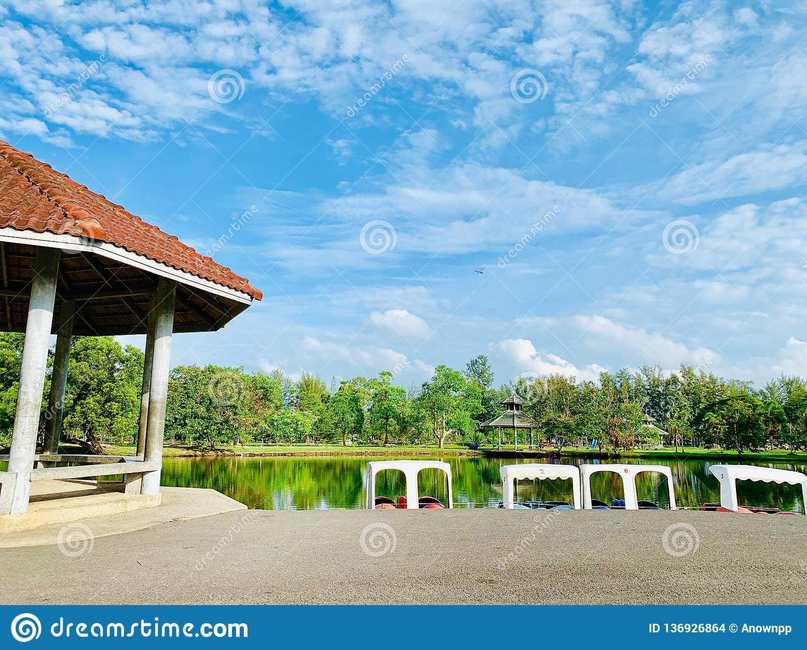 A Resting Place In Pattani Park That Is Somdej Phra Srinakarin