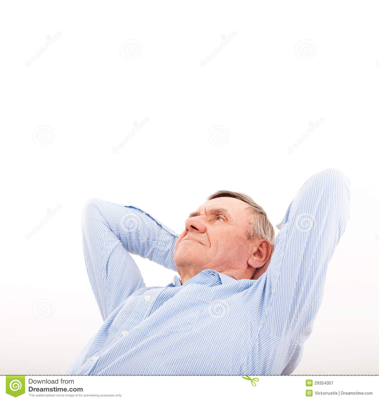 Resto e sogno di riusciti uomini più anziani