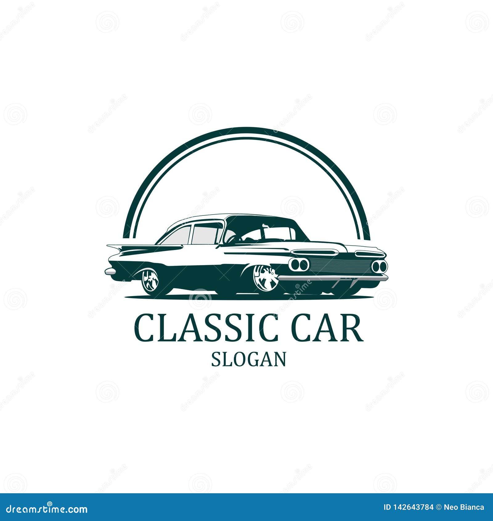 Restoration Classic Car And Repair Custom Classic Car Logo Vector