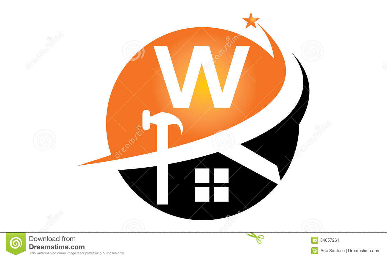 Restorations And Constructions Initial W Stock Vector Image 84657261
