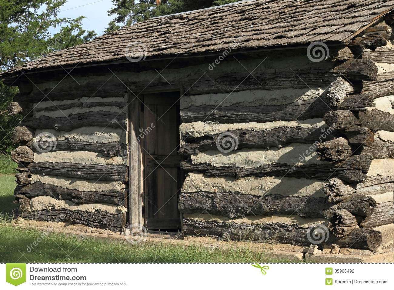 Restored Log Cabin Stock Photo Image Of Heritage Home