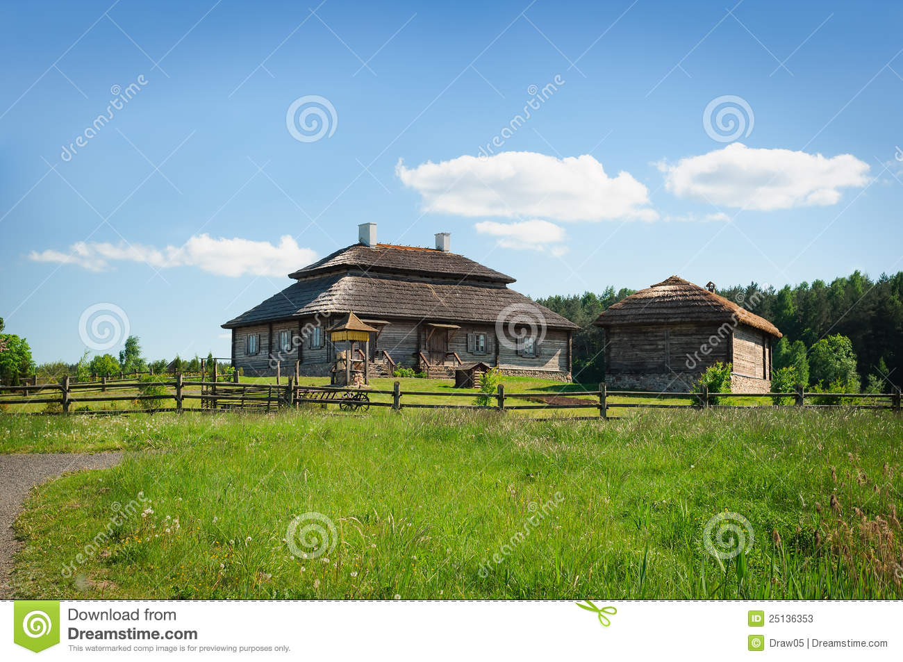 Restored Old Style Russian Farmhouse Stock Photos Image