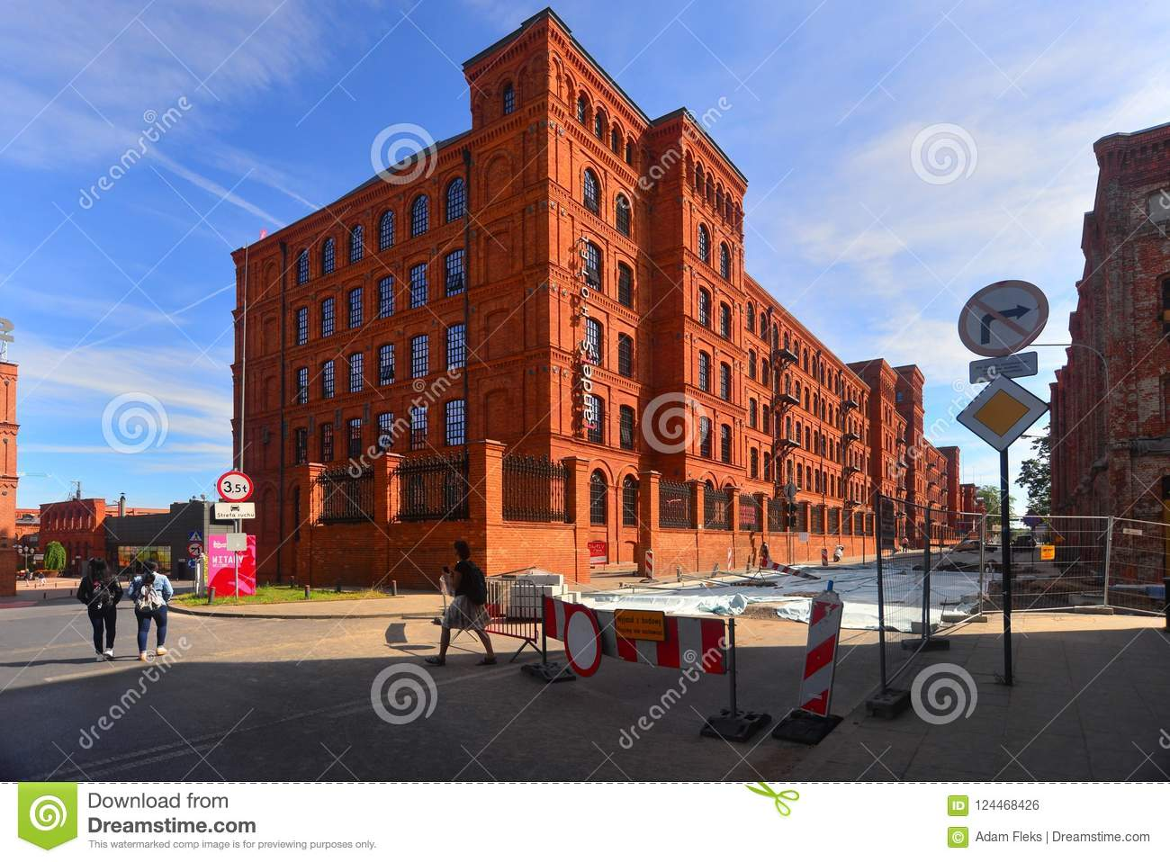 Restored old textile factory in Lodz, Poland