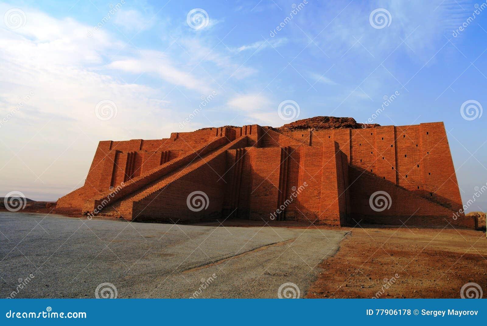 restored ziggurat in ancient ur stock photo image of architecture
