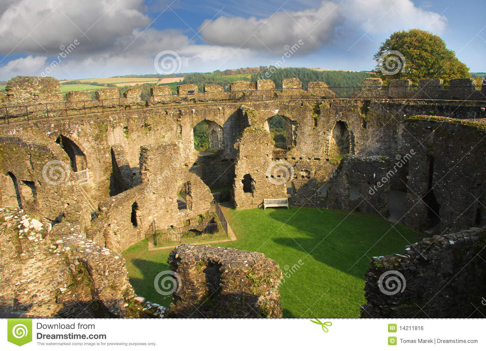 Restormel Castle, Lostwithiel Cornwall England