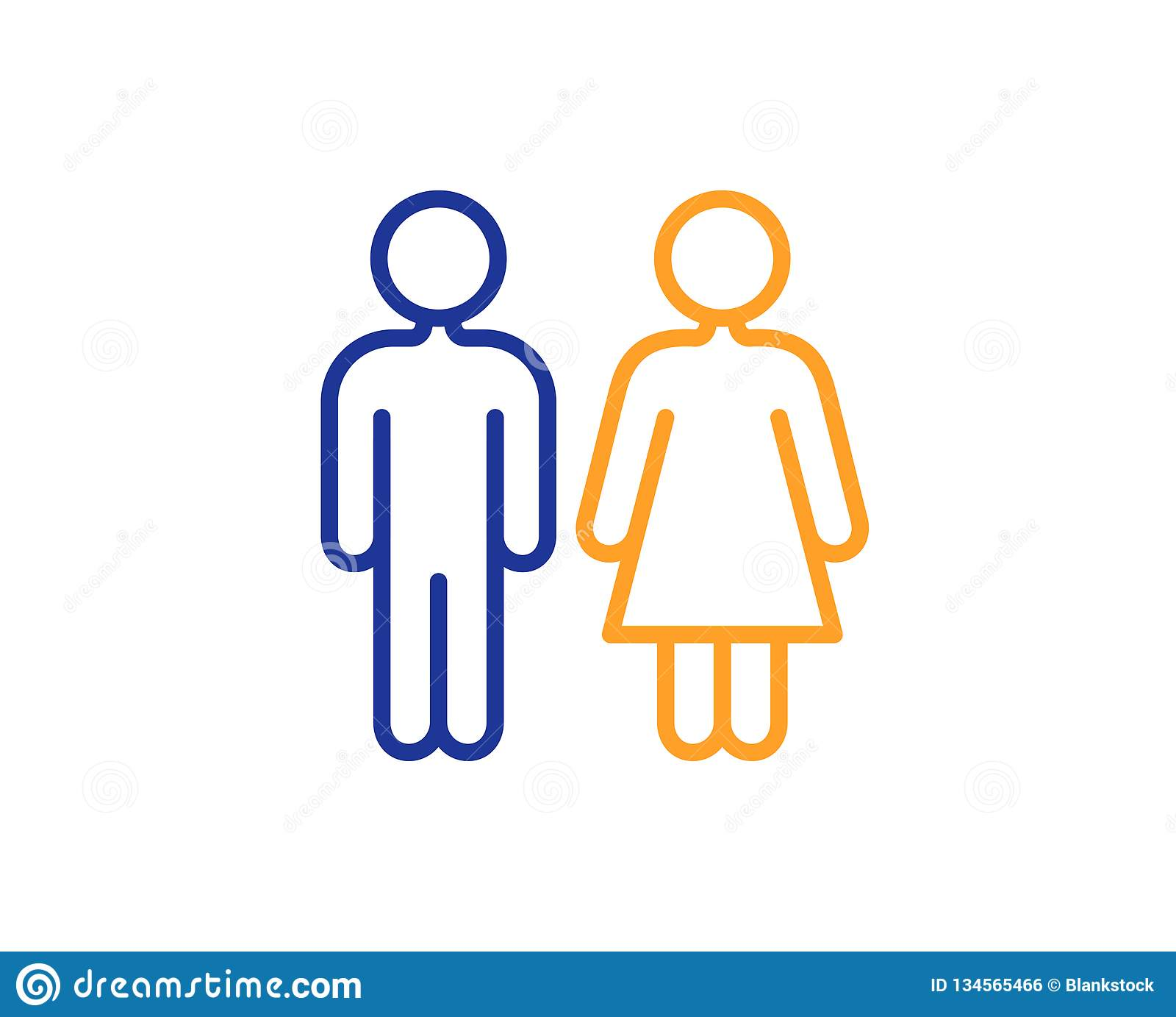 restroom line icon wc toilet sign vector stock vector illustration of isolated outline 134565466 https www dreamstime com restroom line icon wc toilet sign vector public lavatory symbol colorful outline concept blue orange thin color image134565466