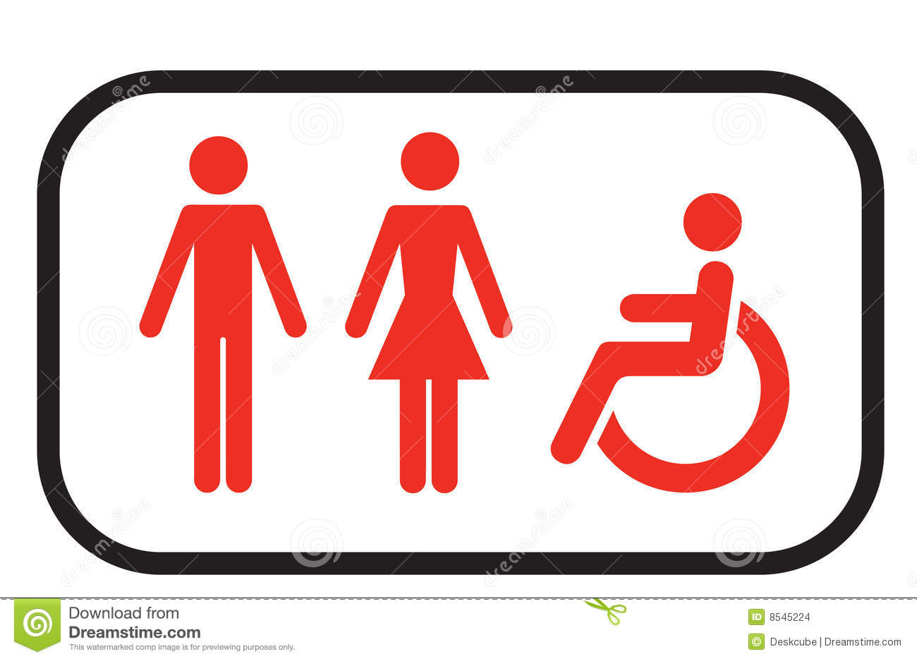 Restroom Sign People Stock Images Image 8545224