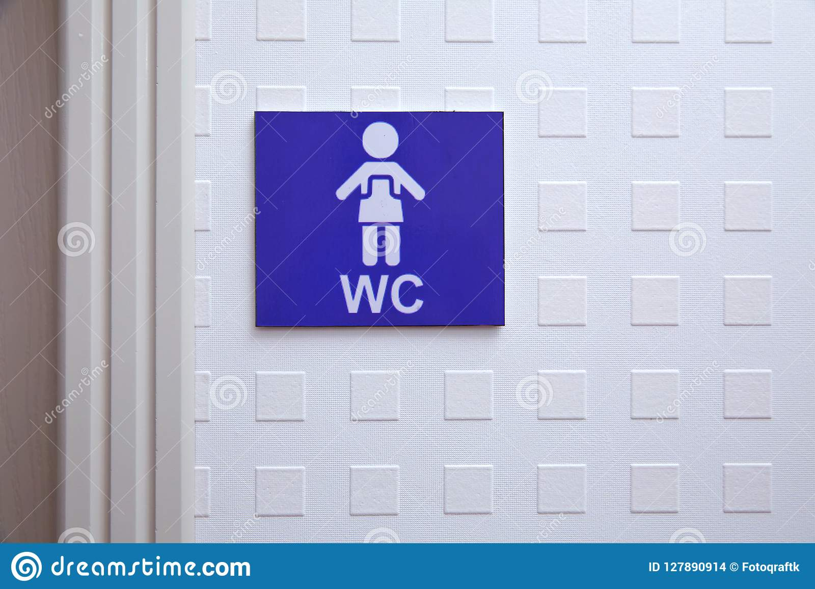 Restroom sign on a toilet door wc toilet icons set women wc signs for