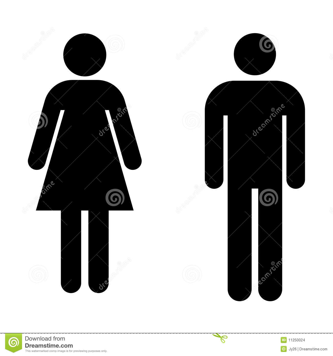 Bathroom Signs Vector restroom signs vector stock images - image: 11250024