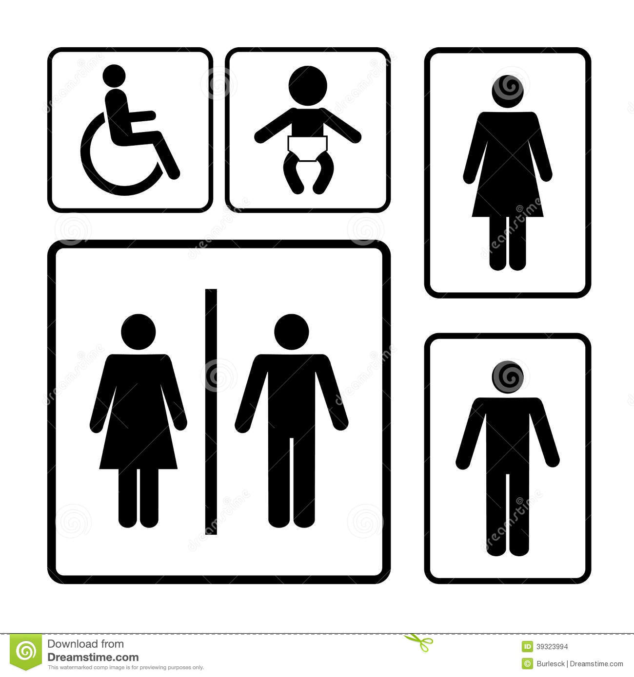 restroom signs stock vector illustration of girl icon 39323994 rh dreamstime com Printable Restroom Signs Men Only Restroom Signs