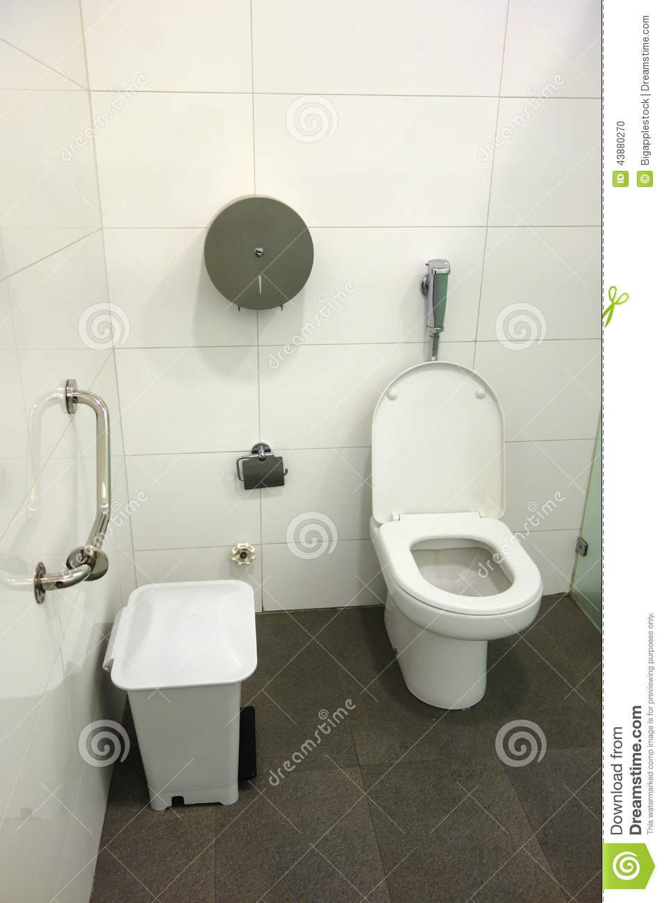 Restroom Stall Stock Photo Image 43880270