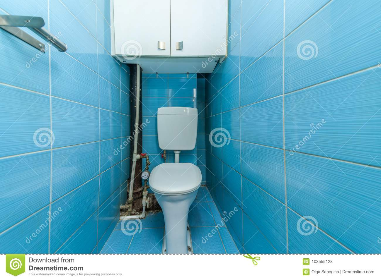 Restroom with toilet stock photo. Image of lavatory - 103555128