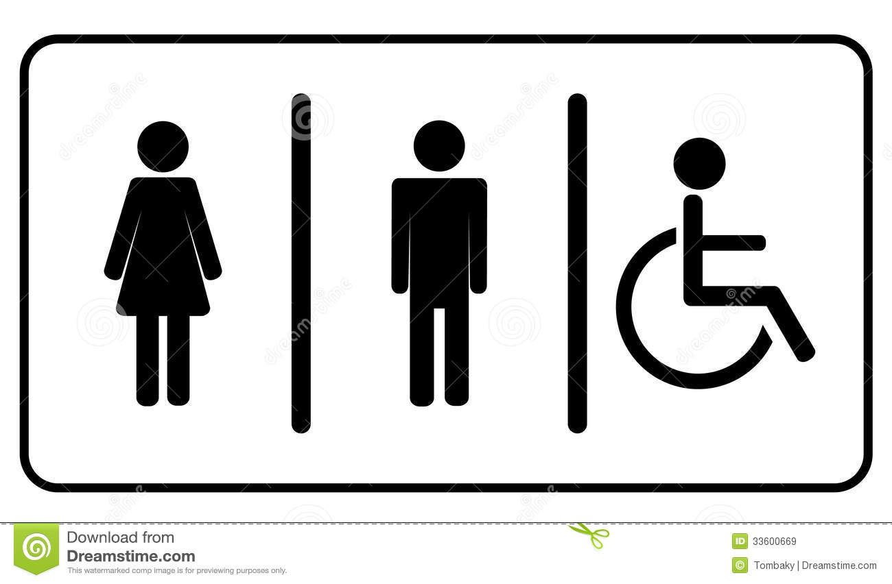 Bathroom Signs Vector restroom symbols royalty free stock photography - image: 10973187