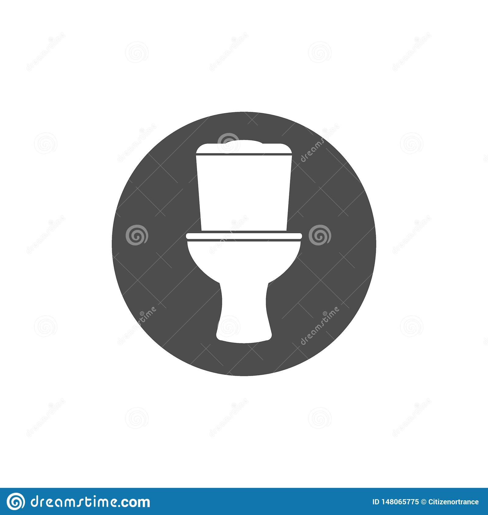 Restroom Wc Toilet Icon Vector Illustration Flat Design Stock
