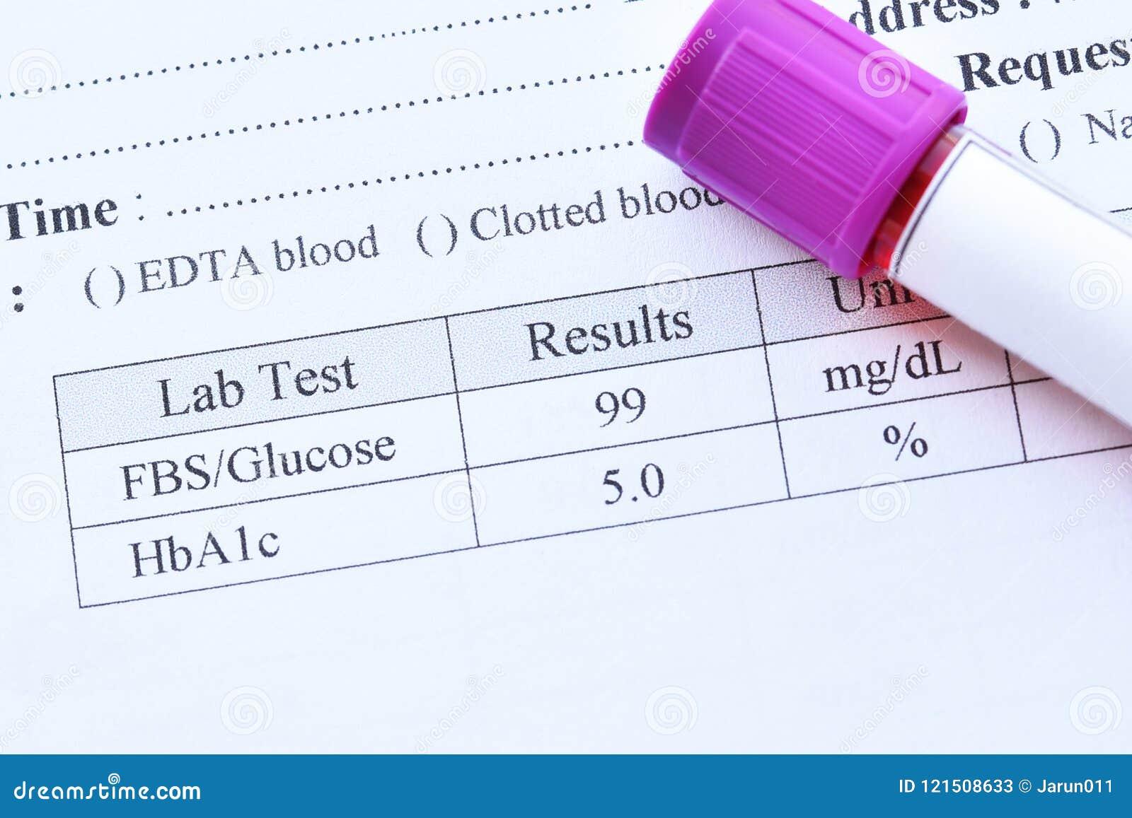 resultados de la prueba de diabetes a1c